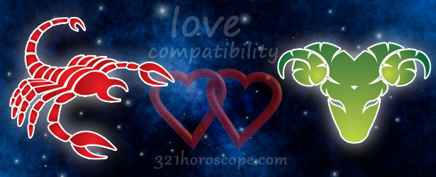 scorpio man aries woman love